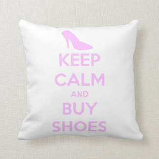 KEEP CALM AND BUY SHOES CUSHION / PILLOW