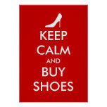 Keep calm and buy shoes poster | Personalizable
