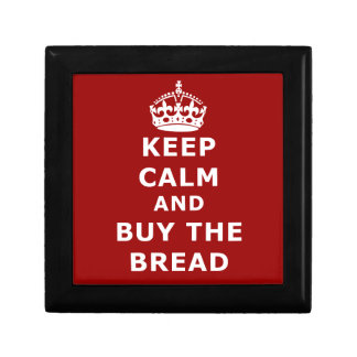 Keep calm and buy the you annoy - Purchase the bre Small Square Gift Box