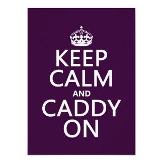 Keep Calm and Caddy On, Golf. 14 Cm X 19 Cm Invitation Card