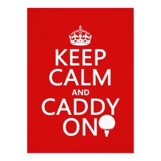 Keep Calm and Caddy On, Golf. Custom Announcements