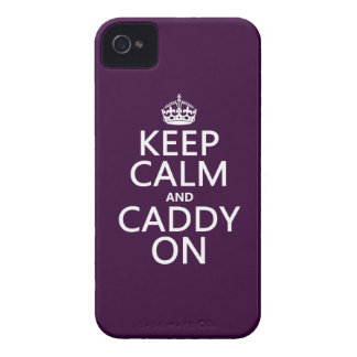 Keep Calm and Caddy On, Golf. iPhone 4 Case-Mate Cases