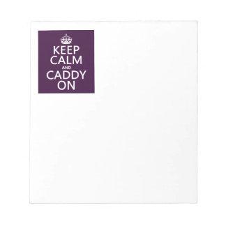 Keep Calm and Caddy On, Golf. Notepad