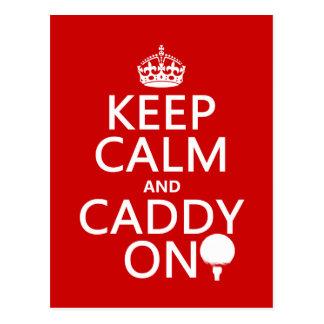 Keep Calm and Caddy On, Golf. Postcard