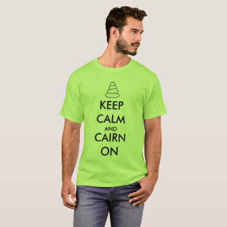 """Keep Calm and Cairn On"" Hiking T-Shirt"