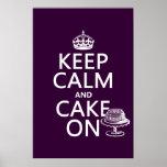 Keep Calm and Cake On (customisable)