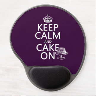 Keep Calm and Cake On Gel Mouse Mat