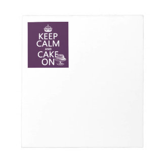 Keep Calm and Cake On Notepad