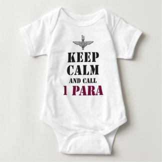 KEEP CALM AND CALL 1 PARA BABY BODYSUIT