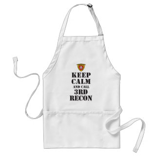 KEEP CALM AND CALL 3RD RECON APRONS