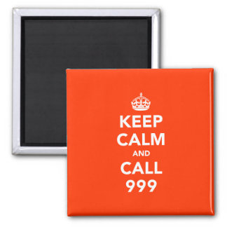 Keep Calm and Call 999 Square Magnet