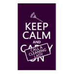 Keep Calm and Call A Cleaning Lady Pack Of Standard Business Cards