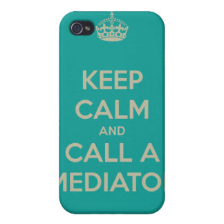 Keep Calm and Call a Mediator iPhone 4 Case