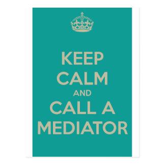 Keep Calm and Call a Mediator Postcard