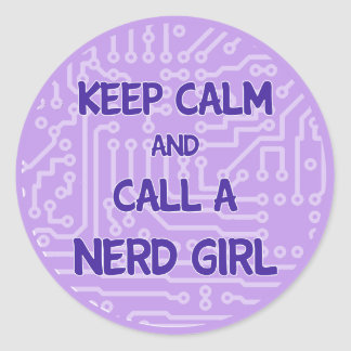 Keep Calm and Call a Nerd Girl Sticker