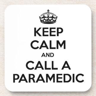 Keep Calm and Call a Paramedic Beverage Coasters