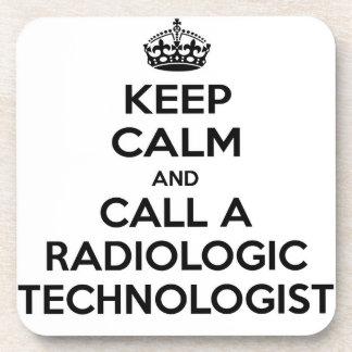 Keep Calm and Call a Radiologic Technologist Drink Coaster