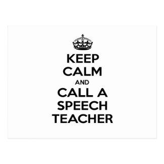 Keep Calm and Call a Speech Teacher Postcard