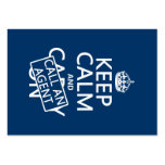 Keep Calm and Call An Agent Business Card