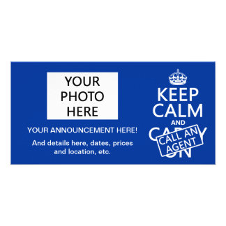 Keep Calm and Call An Agent Picture Card