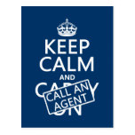 Keep Calm and Call An Agent Postcards