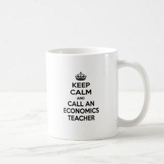 Keep Calm and Call an Economics Teacher Basic White Mug