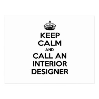 Keep Calm and Call an Interior Designer Postcard