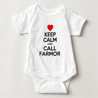 Keep Calm and Call Farmor Baby Bodysuit