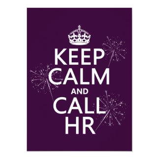 Keep Calm and Call HR (any color) 14 Cm X 19 Cm Invitation Card