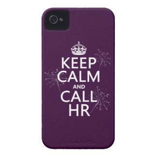 Keep Calm and Call HR (any color) Case-Mate iPhone 4 Case