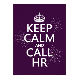 Keep Calm and Call HR (any color) Custom Invite