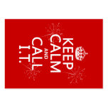 Keep Calm and Call IT (any colour) Business Card Template