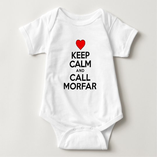 Keep Calm and Call Morfar Baby Bodysuit