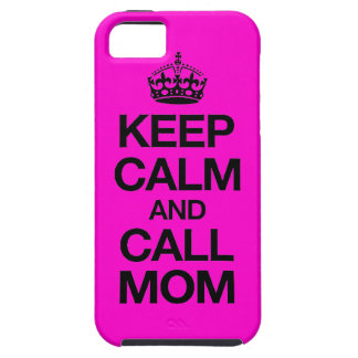 Keep Calm And Call Mum iPhone 5 Case (hot pink)