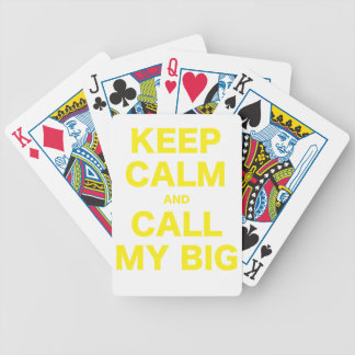 Keep Calm and Call my Big Playing Cards