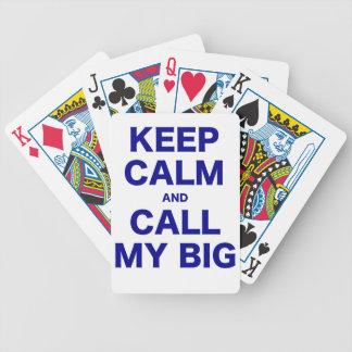 Keep Calm and Call my Big Bicycle Card Deck