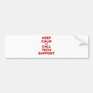 Keep Calm and Call Tech Support Bumper Sticker