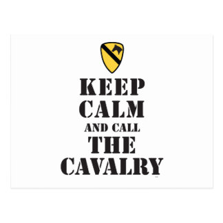 KEEP CALM AND CALL THE CAVALRY POSTCARD