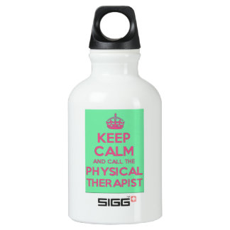 keep Calm and Call the Physical Therapist Water Water Bottle