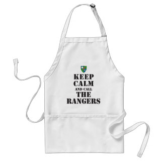 KEEP CALM AND CALL THE RANGERS STANDARD APRON
