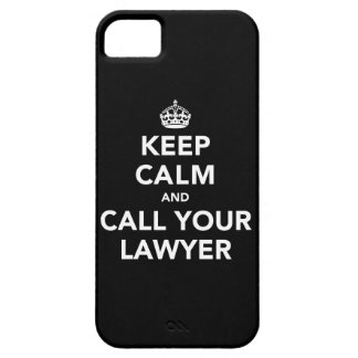 Keep Calm and Call Your Lawyer Barely There iPhone 5 Case
