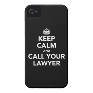Keep Calm and Call Your Lawyer iPhone 4 Case