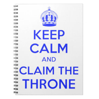 Keep Calm and Calm the Throne Notebook - 1066