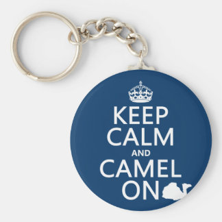 Keep Calm and Camel On (all colors) Key Ring
