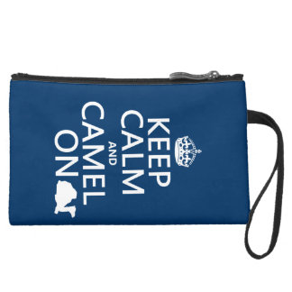 Keep Calm and Camel On (all colors) Suede Wristlet