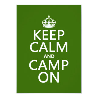 Keep Calm and Camp On 14 Cm X 19 Cm Invitation Card