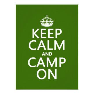 Keep Calm and Camp On Custom Invites