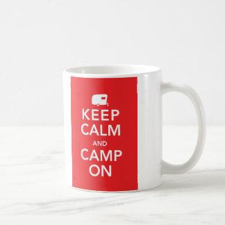 Keep Calm and Camp On - RV Glamping Mug