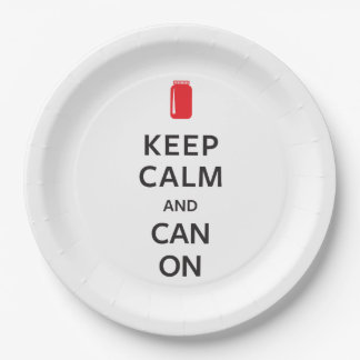 Keep Calm and Can On Paper Plate