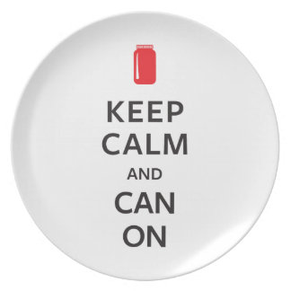 Keep Calm and Can On Plate